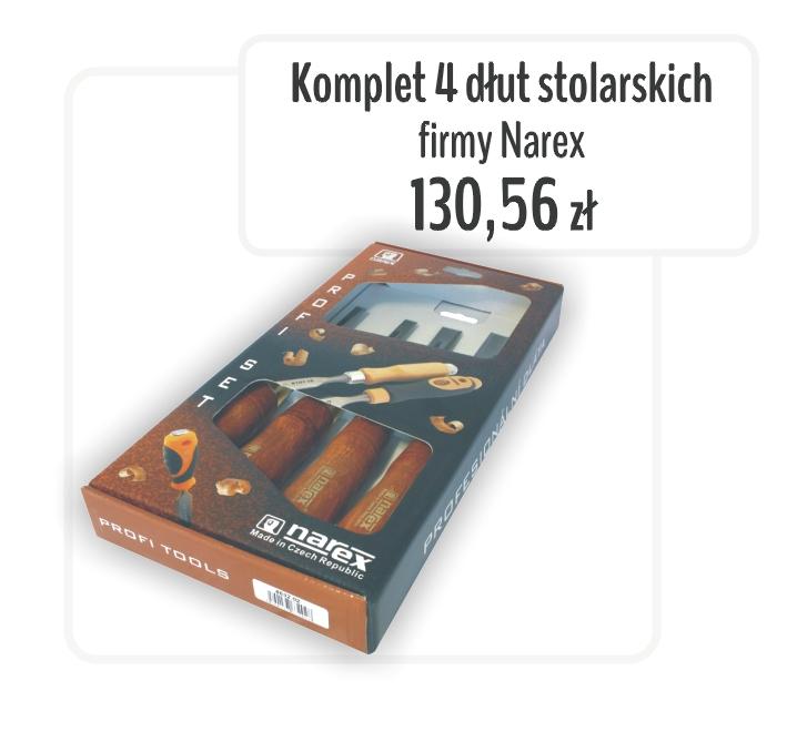 Komplet dłut stolarskich Narex